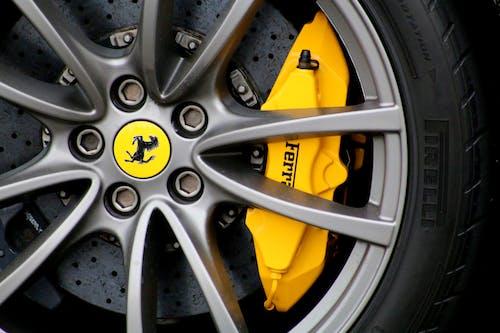Free stock photo of alloy wheel, brake disc, brake pad