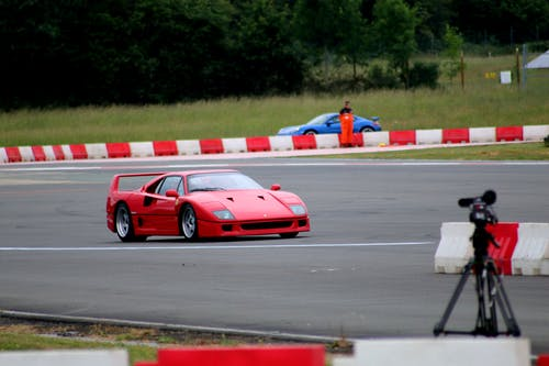 Free stock photo of f40, ferrari, race track