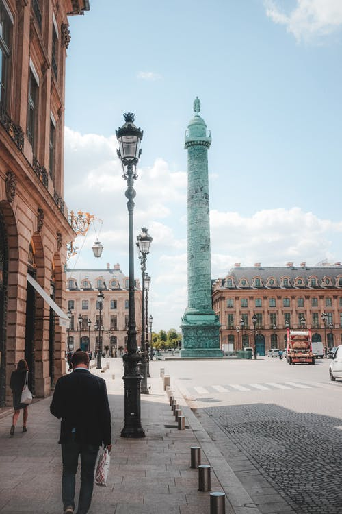 Place Vendome with famous column in Paris