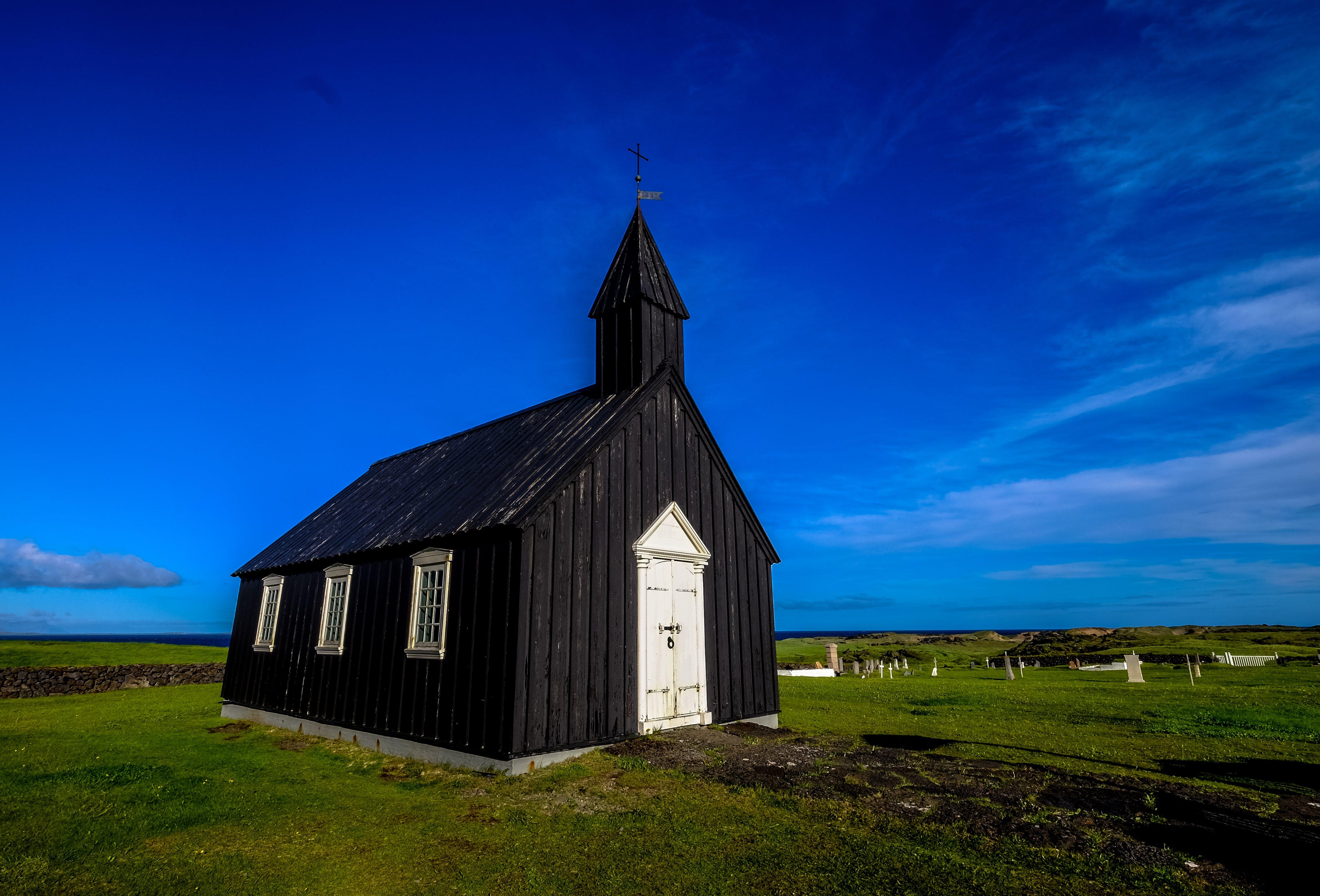architecture, blue sky, church