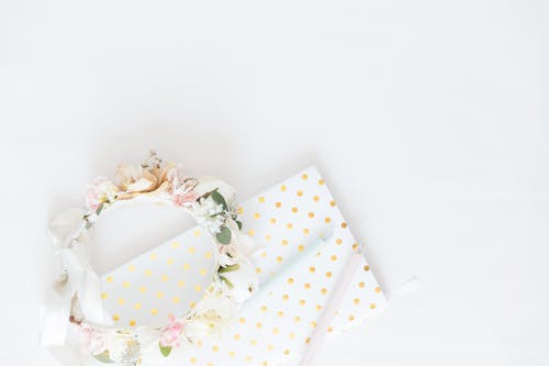 White and Pink Floral Gift Box