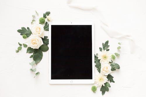White Ipad on White Textile