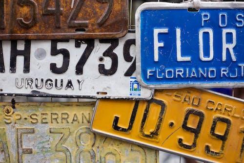 Ingyenes stockfotó ábécé, árukészlet, autószámok, betű témában