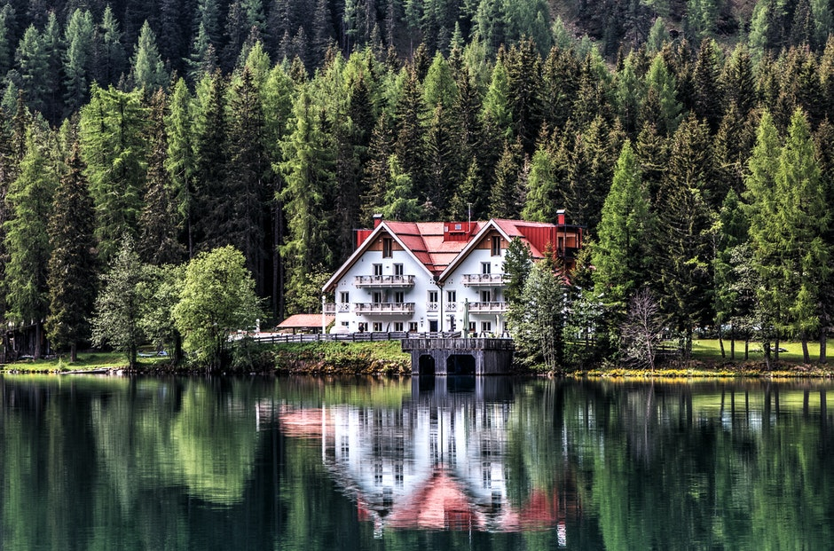 beautiful, building, chalet