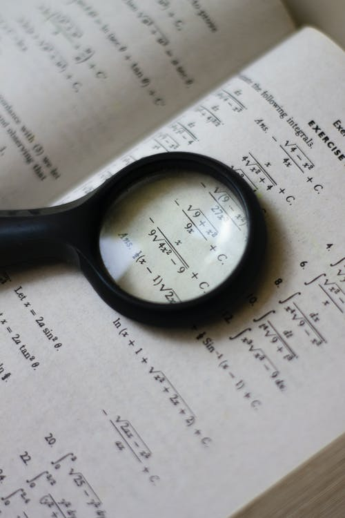 Magnifying Glass on Textbook