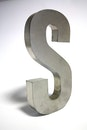 letter, chrome, silver
