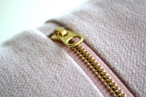 Gold-colored Zipper