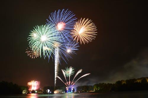 Free stock photo of explosion, festival, fireworks, music festival