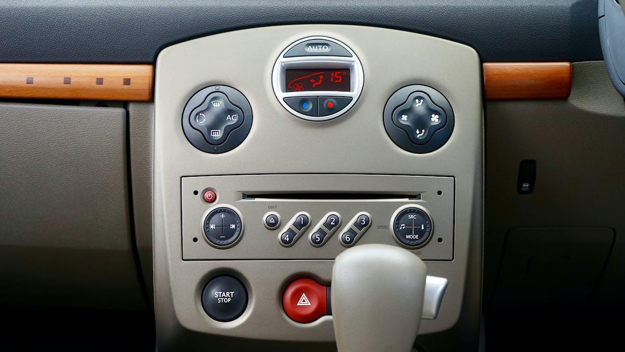 automatisk, bil, bilinteriør
