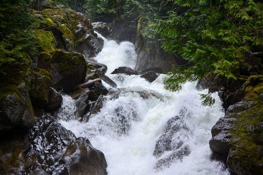 Free stock photo of nature, rocks, river, waterfall