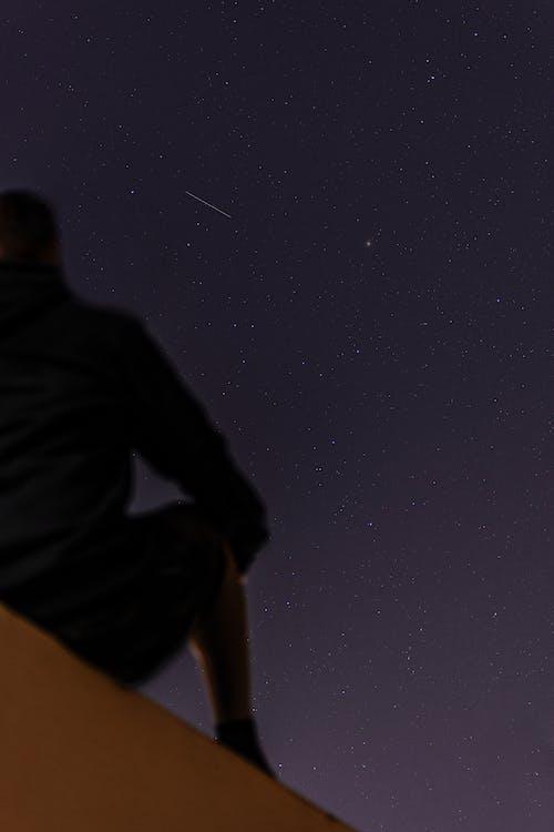 Δωρεάν στοκ φωτογραφιών με céu estrelado, galaxy, άνδρας