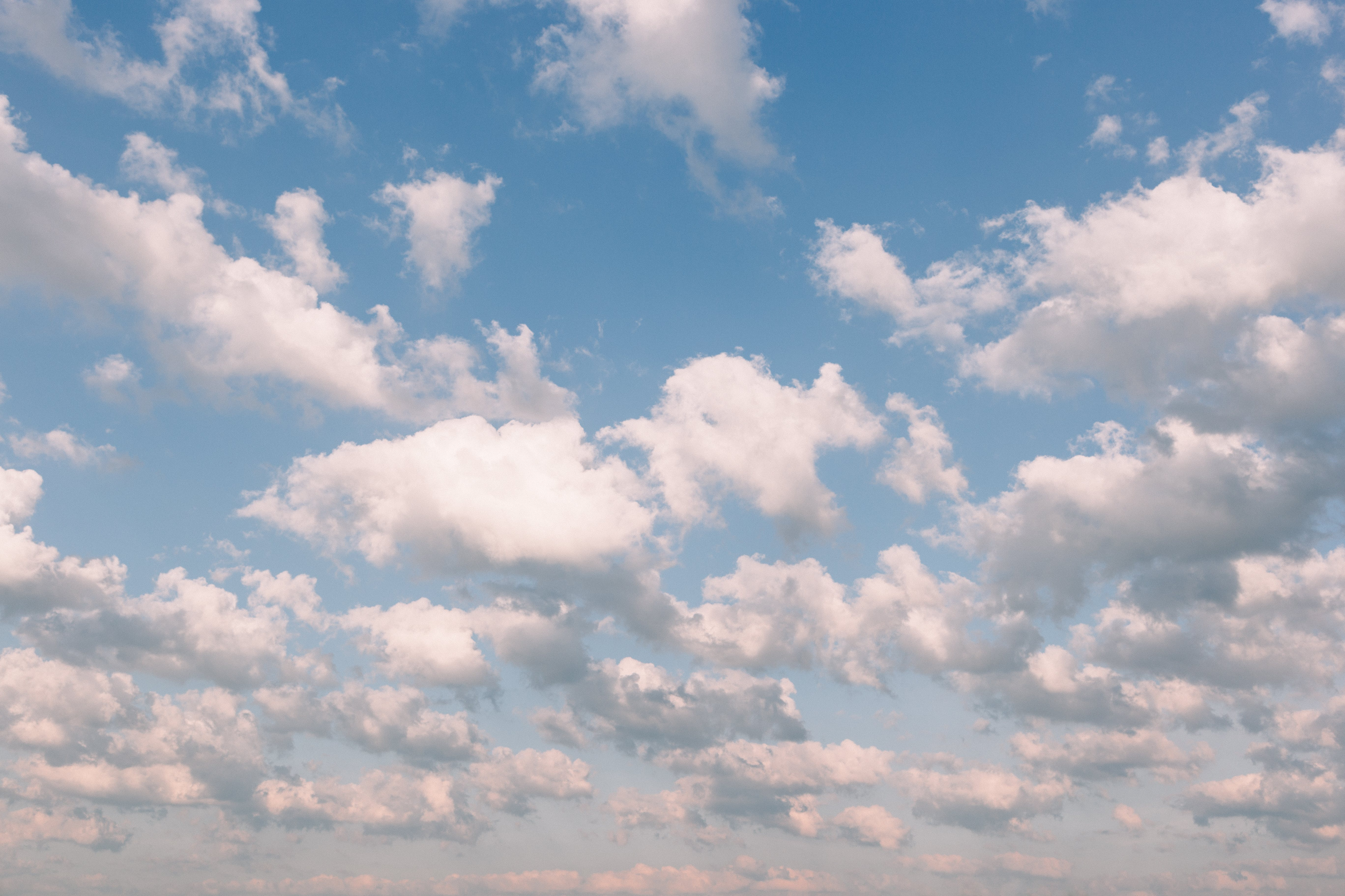 blue sky, cloudiness, clouds