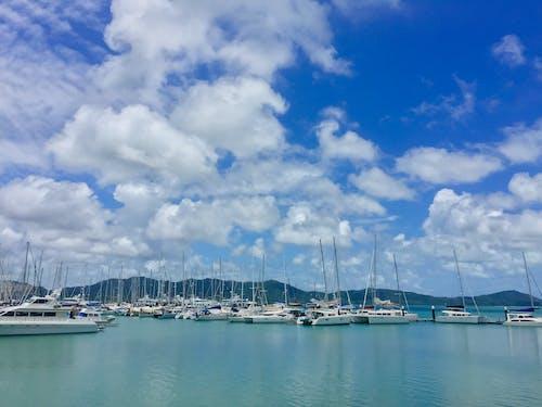 Ingyenes stockfotó csónakok, dokk, ég, evez témában