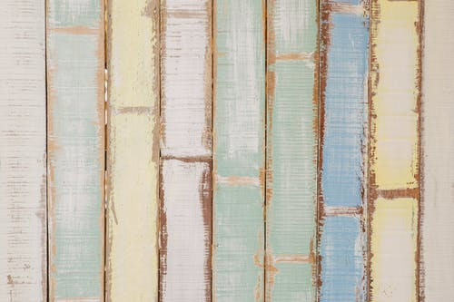 Yellow, Blue, and Green Wooden Wall Decor
