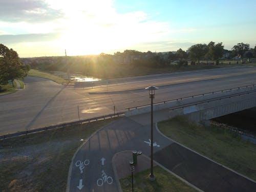 Gratis lagerfoto af drone, dronekamera, motorvej, park
