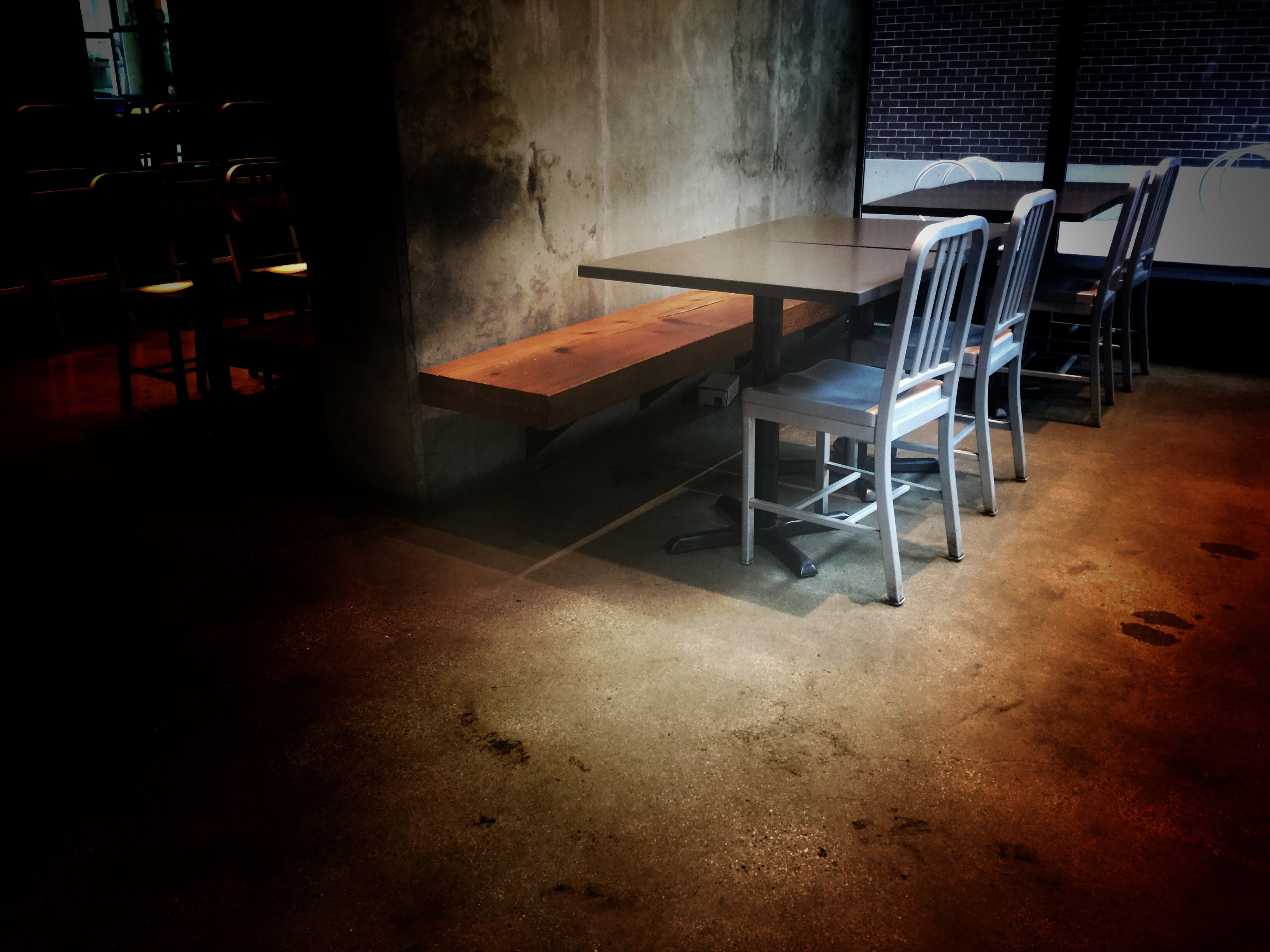 Free stock photo of coffee shop, horror, metal chairs, rustic