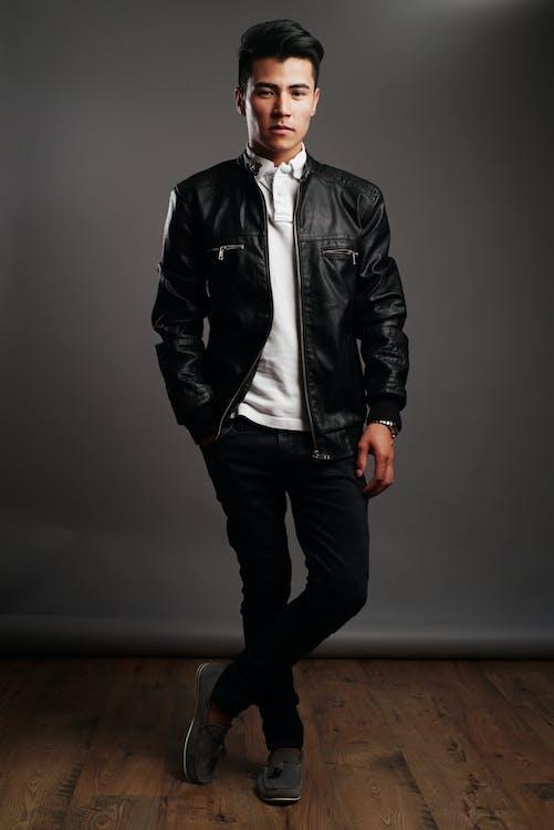 Základová fotografie zdarma na téma černá kožená bunda, dobře vypadající, dospělý