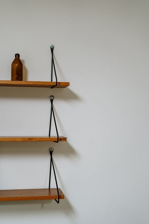 Brown Wooden Wall Mounted Rack