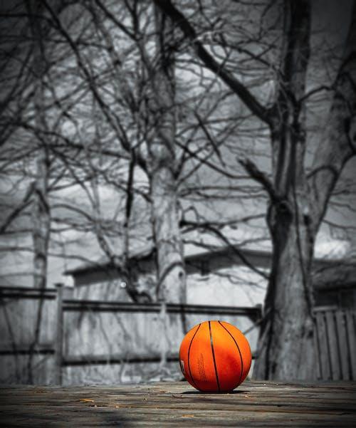 Základová fotografie zdarma na téma basketbal, basketbalový koš, bw fotografie, dvůr