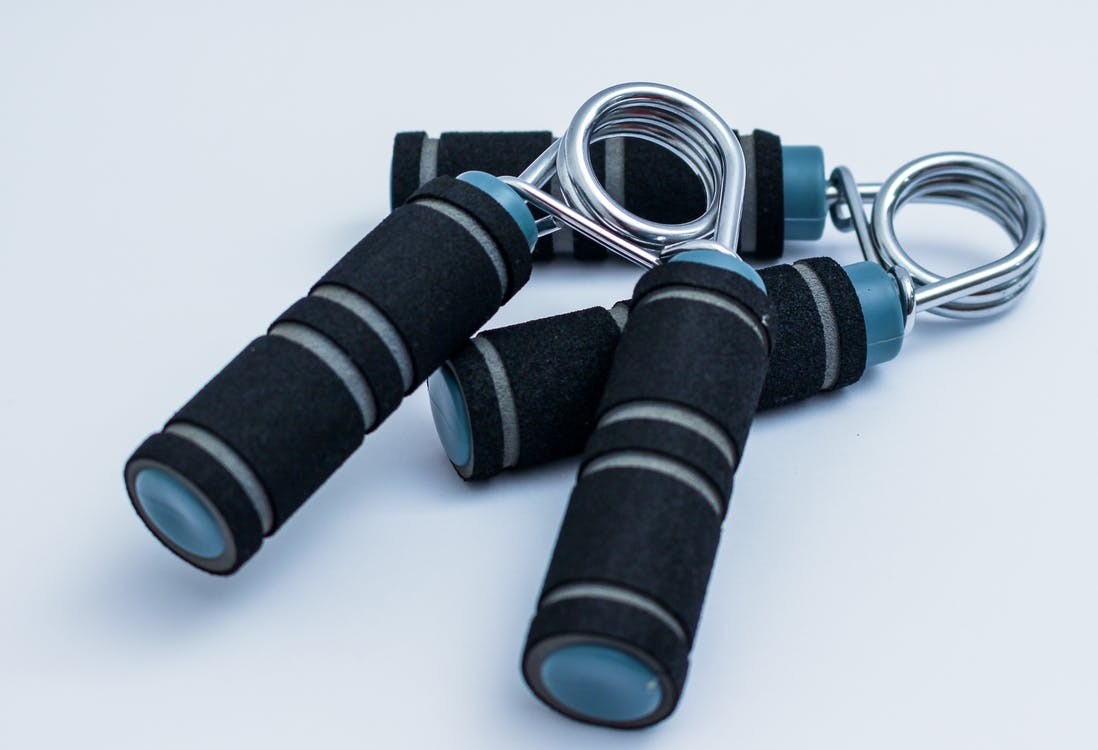Two Black-and-blue Hand Grips