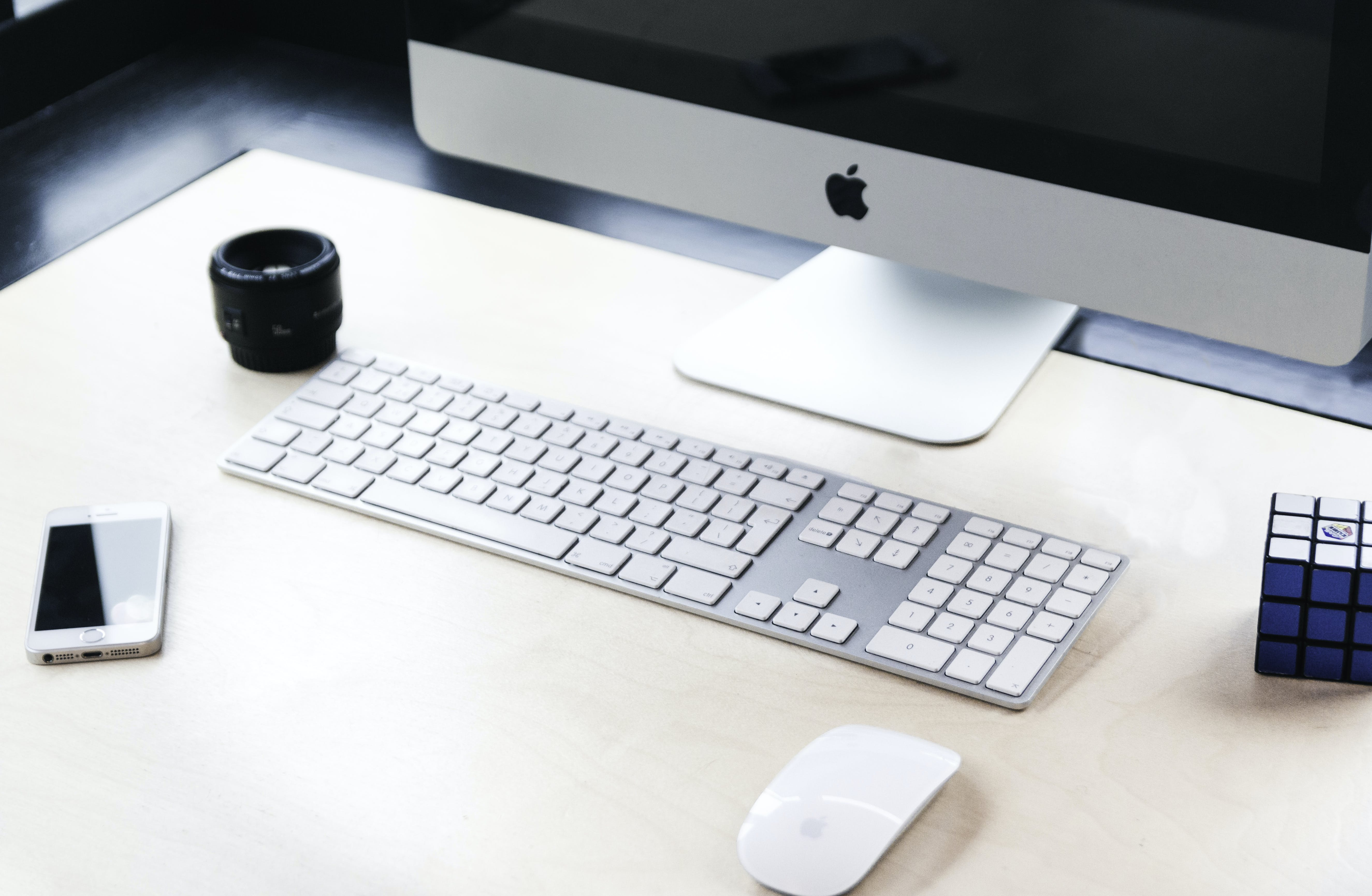 Imac Beside Apple Wireless Keyboard And Magic Mouse