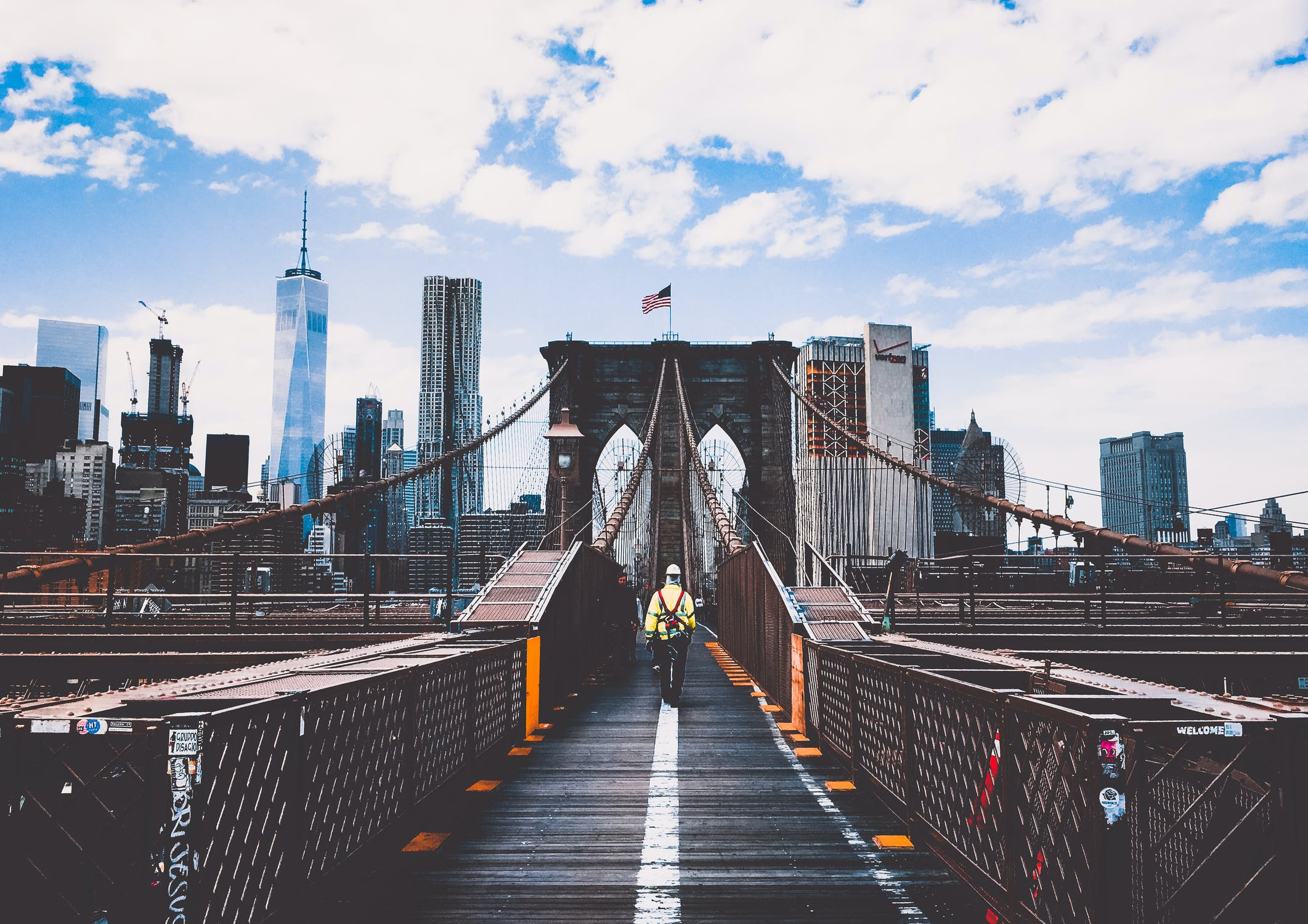 A man going to New York - which makes Hoboken one of the best cities for singles in New Jersey.