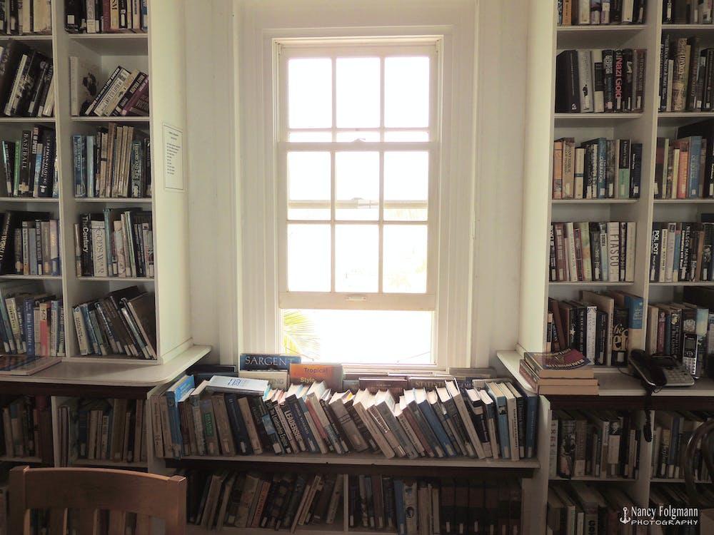 biblioteca, estante de livros, estantes
