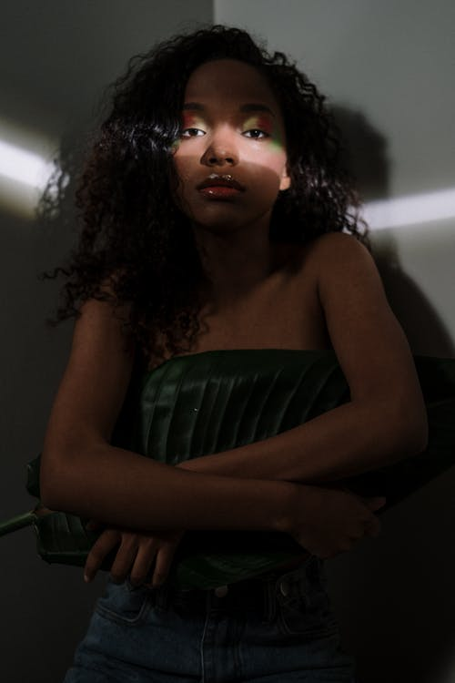 Woman in Green Tube Dress
