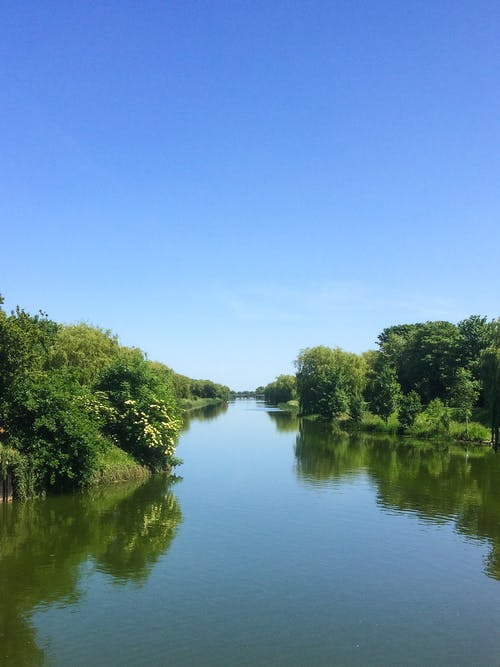 Free stock photo of blue sky, coronation channel, green
