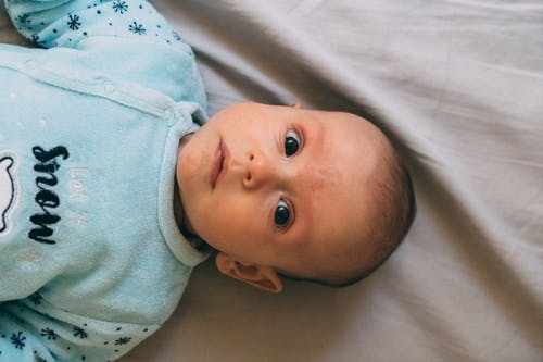 Free stock photo of baby, bed, boy, child