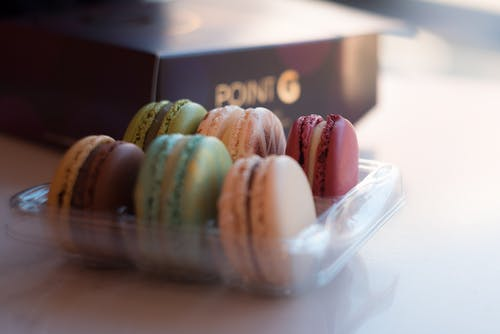 Close-Up Photo of French Macarons