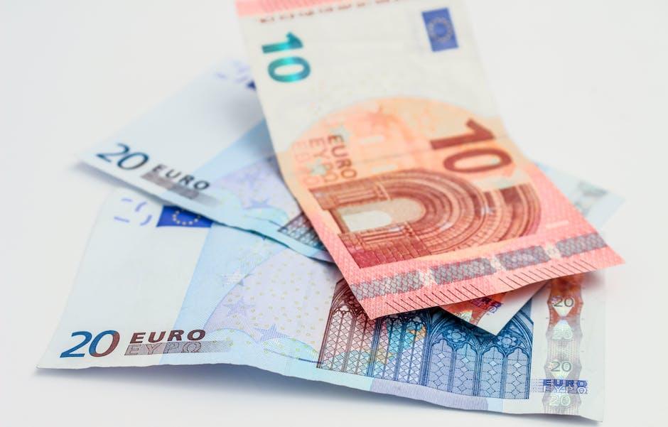 10 euros, 20 euros, account