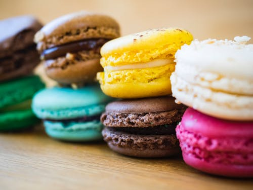 Close-Up Photo of Macarons