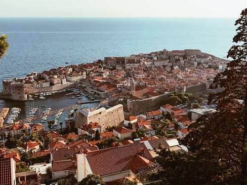 View of beautiful old harbor of Dubrovnik
