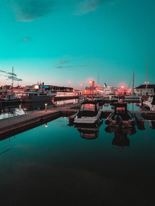 Základová fotografie zdarma na téma cestování, člun, dopravní systém, kotviště