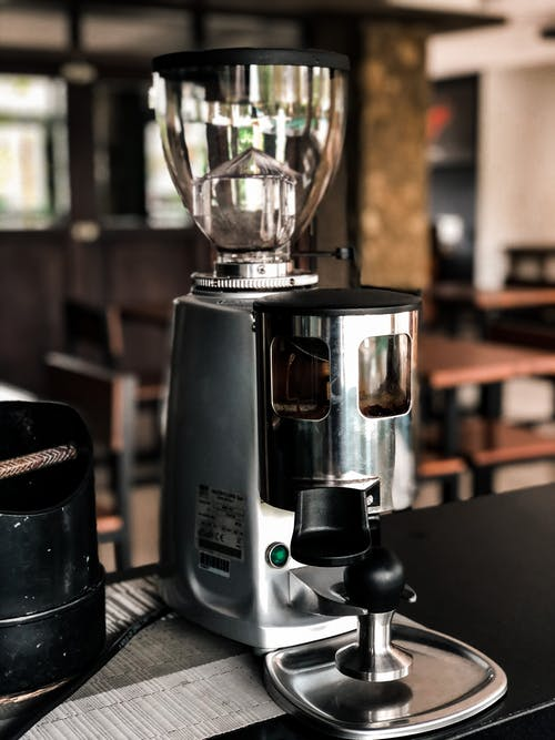 Silver and Black Coffee Maker
