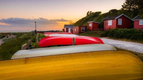 Free stock photo of adventure, boat, boathouse, cloud