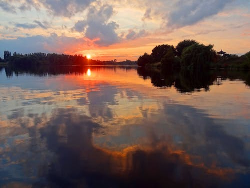 Photo of a Sunset on the River