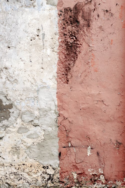Red and White Concrete Wall