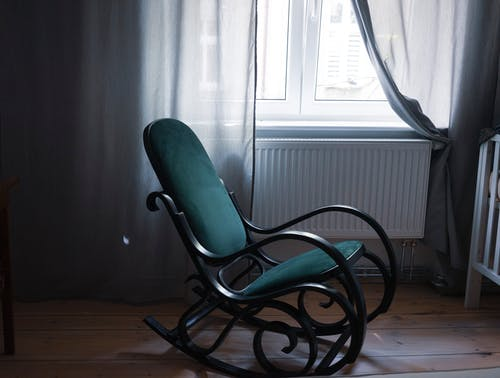 Black and Green Rocking Chair