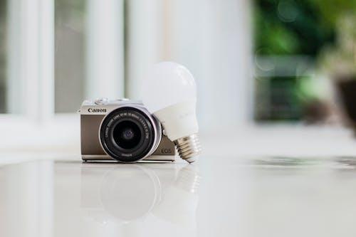 Photo of Camera Near Light Bulb