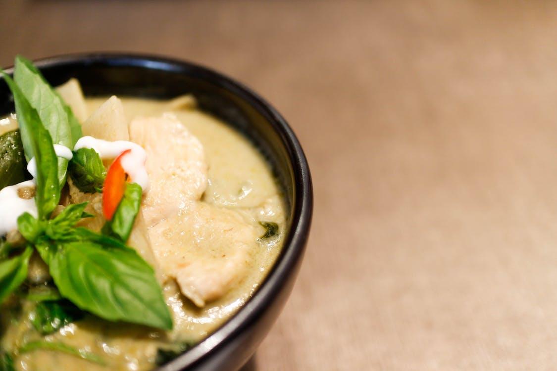 thai green curry, thai mat, thailändsk curry