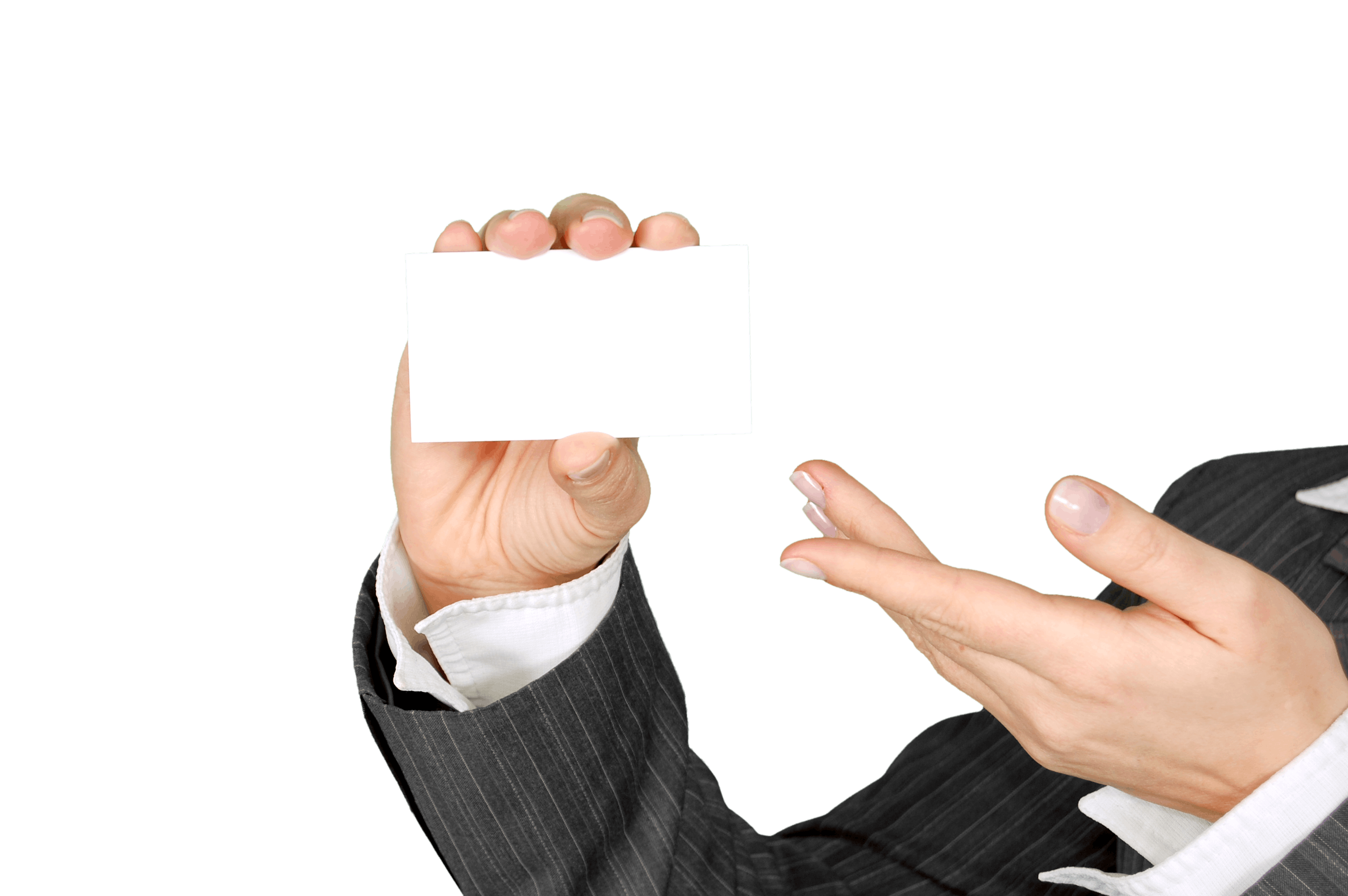 Person Showing White Piece of Paper