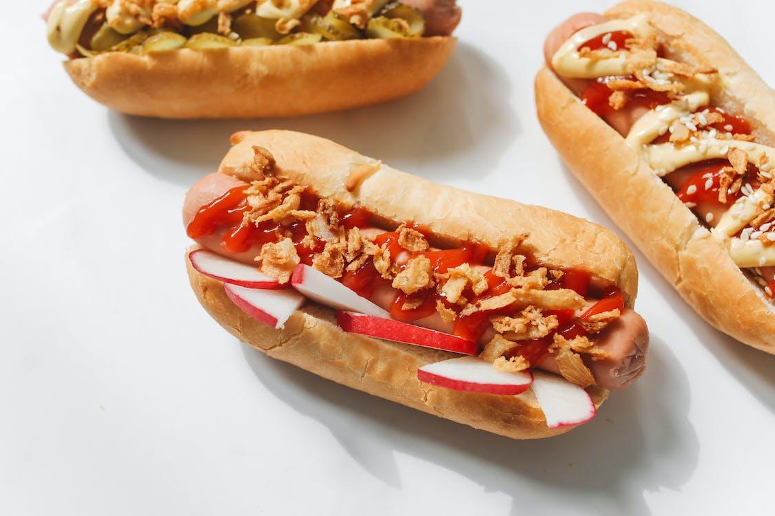Close-Up Photo of Hotdog Sandwiches