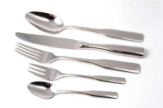 Silver Spoon Near Silver Kitchen Knife
