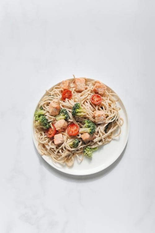 Immagine gratuita di broccoli, carbonara, carne