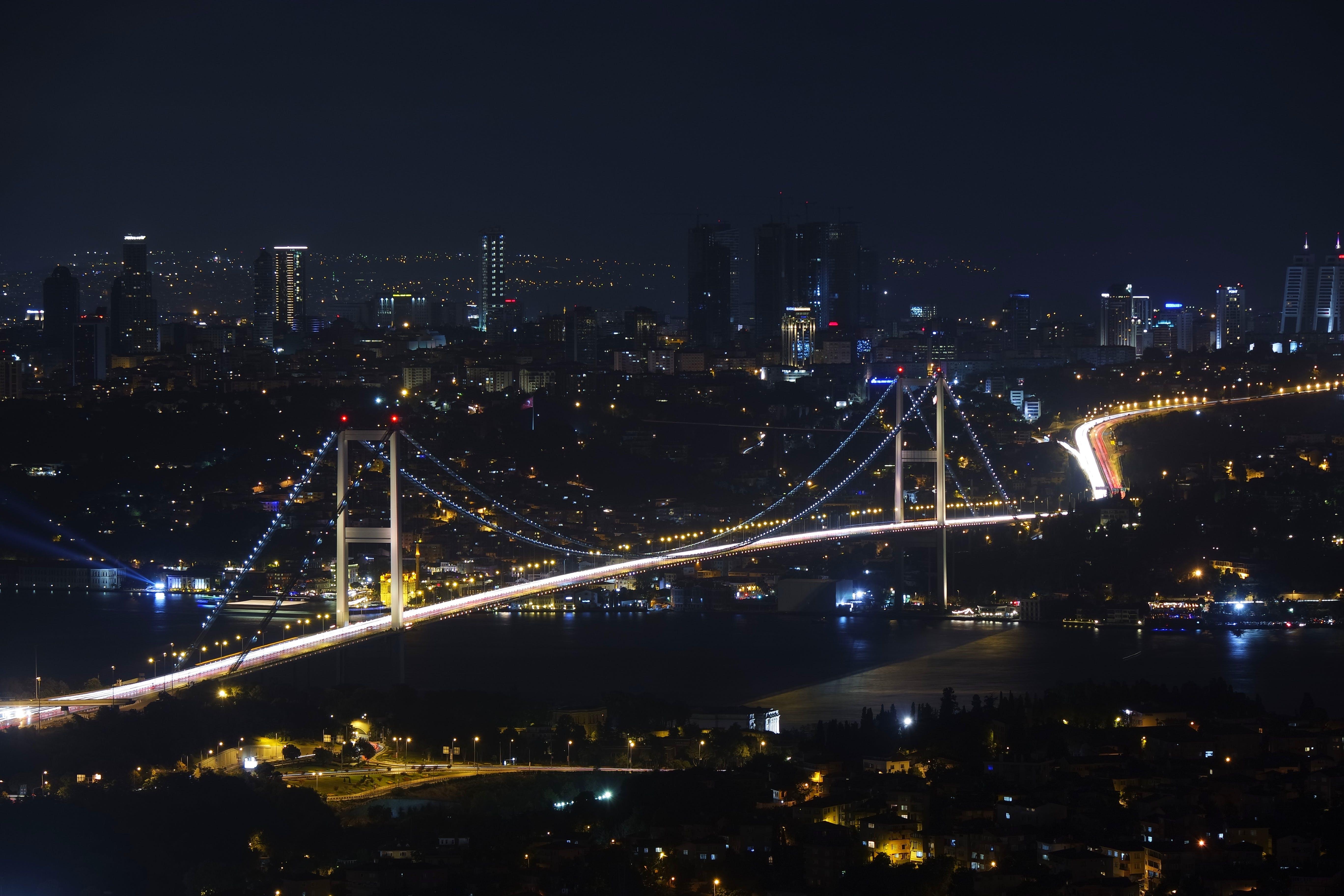Free stock photo of city, night, bridge, cityscape