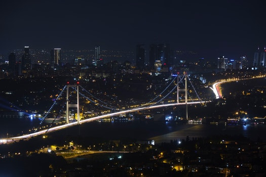 Free stock photo of city, night, bridge, cityscape