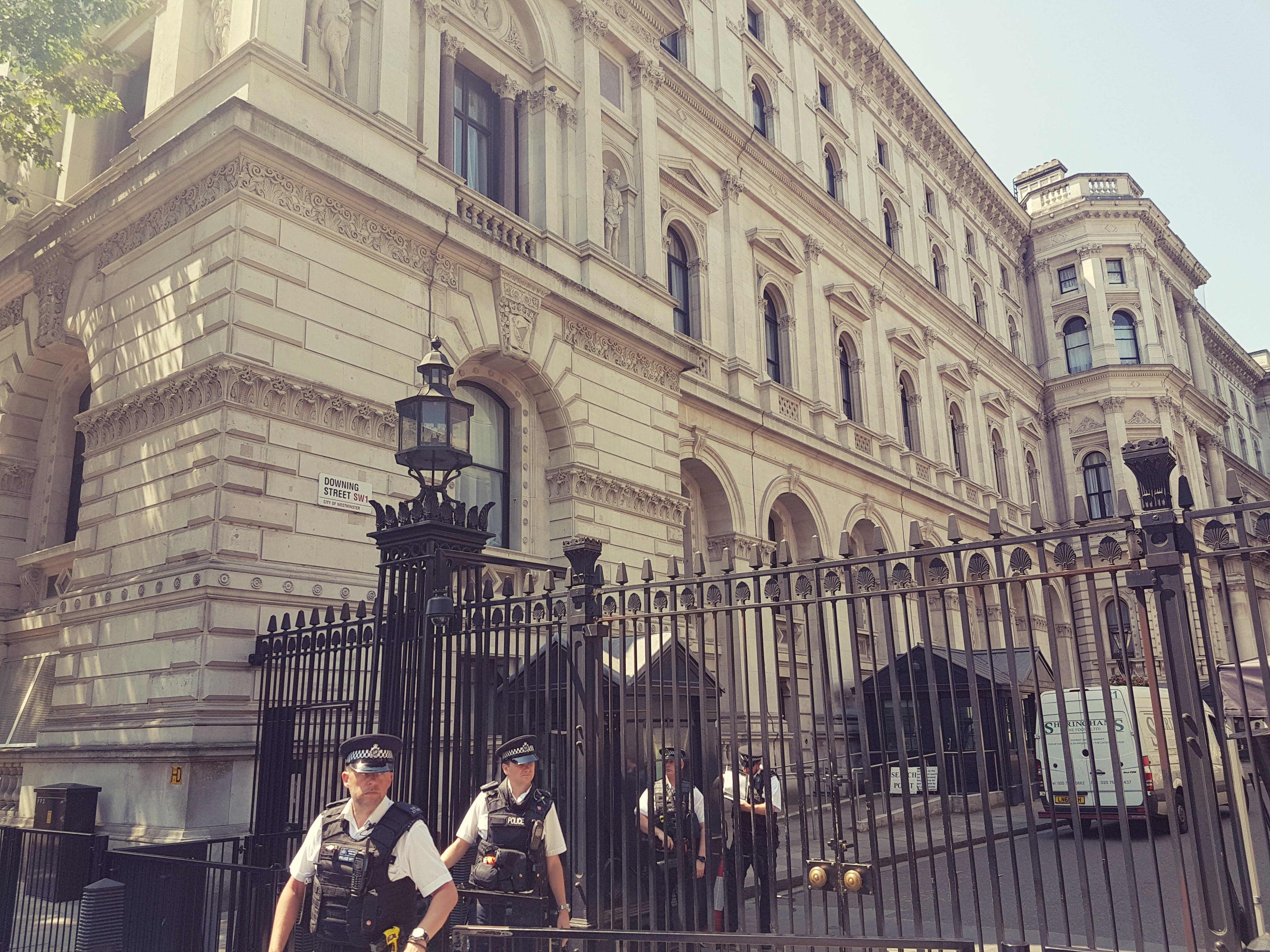 Free stock photo of downing st., gate, security
