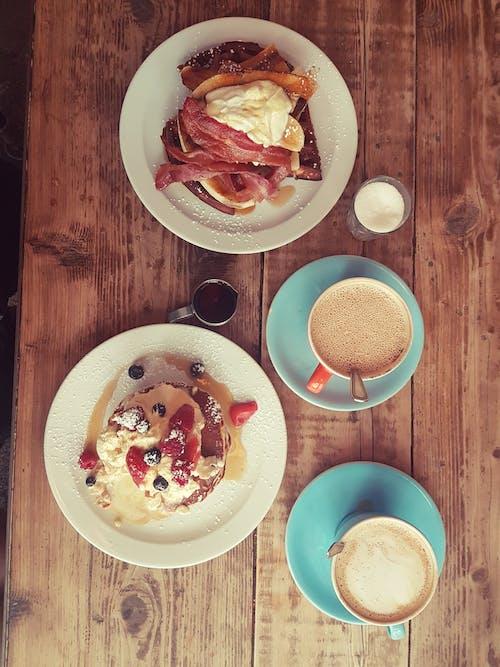 Foto d'estoc gratuïta de creps americanes, gofres, gofres i pancakes